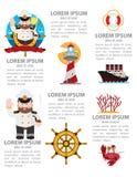 Morski infographics Fotografia Royalty Free