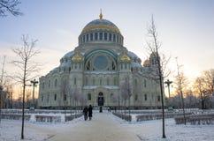 morski katedralny kronshtadt obraz stock