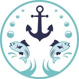 Morski logo Obraz Royalty Free
