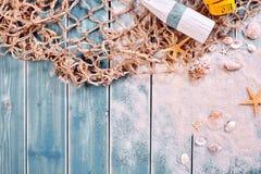 Morski lub nautyczny o temacie tło fotografia stock