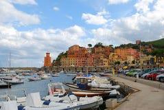 morski miasteczko Zdjęcie Royalty Free