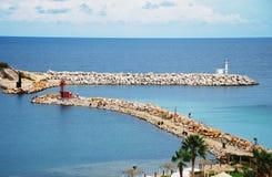 morski monastir Tunisia widok Zdjęcie Royalty Free