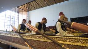 Morski muzeum w Istanbuł dźga antycznych łodzi turecczyzny sułtanów Obrazy Stock