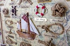 Morski panelu tło Obraz Royalty Free