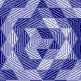 Morski patchworku mandala, kalejdoskop, abstrakt, okwitnięcie, skutek gwiazda dawidowa w trójbok mozaice Zdjęcie Stock