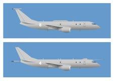 Morski patrolowy samolot ilustracja wektor