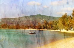 Morski retro krajobraz Zdjęcia Stock
