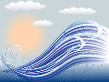 Morski tło royalty ilustracja