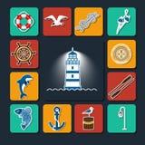 Morski ustawiający objects-01 royalty ilustracja