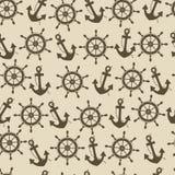 Morski wektorowy bezszwowy Zdjęcie Stock
