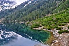 Morskie oka jeziorny widok w połysku tatry Obraz Royalty Free