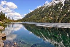 Morskie oka jeziorny widok w połysku tatry Fotografia Stock