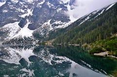 Morskie oko在波兰tatry的湖视图 库存图片