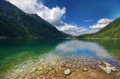 Morskie Oko湖 库存照片