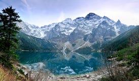 Morskie Oko jeziorne Tatrzańskie góry, Polska Zdjęcia Royalty Free