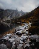 Morskie Oko jezioro w Tatrzańskich górach w Polska fotografia stock