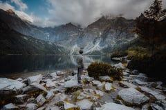 Morskie Oko jezioro w Tatrzańskich górach w Polska fotografia royalty free