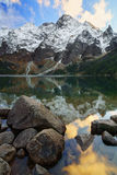 Morskie oko lake in the High Tatra mountains. Stock Photography