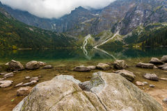 Morskie oko lake. Photo was taken in High Tatras mountains on Polish side near Morskie oko lake,Poland stock images