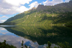 Morskie oko. Lake Morskie Oko in the Polish Mountains Zakopane Stock Images