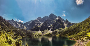 Morskie Oko lake in polish Tatra Royalty Free Stock Image