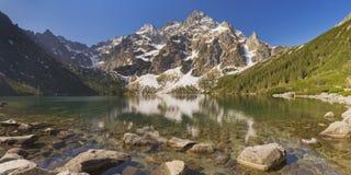 Morskie Oko lake in the Tatra Mountains, Poland Stock Photo