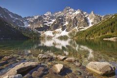 Morskie Oko lake in the Tatra Mountains, Poland Royalty Free Stock Photos