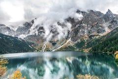 Morskie Oko mountain lake, Sea Eye, Zakopane, Tatra Mountains, Poland stock photography