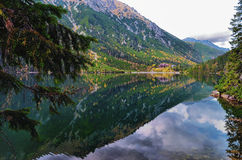 Morskie Oko in the middle of October. Lake in Tatra mountains, very popular among polish and foreign trekkers Royalty Free Stock Image