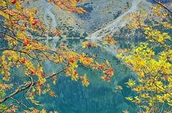 Morskie Oko po środku Października obrazy royalty free