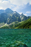 Morskie Oko in polish Tatra mountains Royalty Free Stock Image