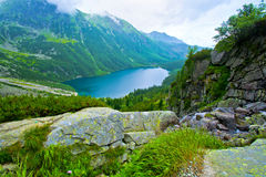 Morskie Oko in Tatry. Lake in mountains. Morskie Oko in Tatry stock photo