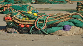Morskie sieci Obrazy Royalty Free