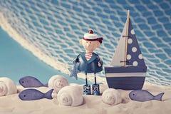 Morskiego życia dekoracja Zdjęcia Royalty Free
