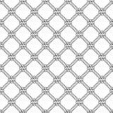 Morskiej linowej kępki wektoru bezszwowy wzór Nautyczny projekt Marynarki wojennej ilustracja Ocean tapeta Lampasów elementy royalty ilustracja
