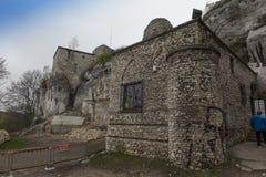 MORSKO POLSKA, Maj, - 03, 2017: Grodowy Bakowiec - resztki rycerza ` s roszują od XIV wieka, lyi Obraz Royalty Free