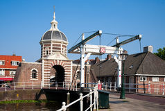 Morspoort city gate. The Morspoort city gate in Leiden, the Netherlands royalty free stock image