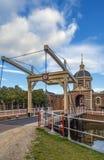 Morspoort, Leyde, Pays-Bas Image libre de droits