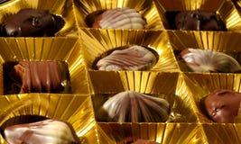 Morsure de chocolat Photographie stock libre de droits