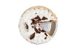 Morsure de tarte de chocolat Photos libres de droits