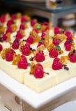 Morsures de gâteau au fromage images stock