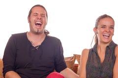Mort de couples du rire Photos stock