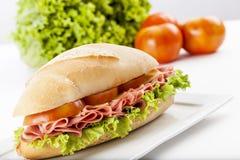 Mortadela sandwich Stock Image