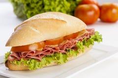 Mortadela sandwich Royalty Free Stock Images