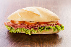 Mortadela sandwich Stock Images