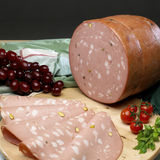 Mortadella stockfoto