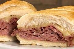 Mortadella sandwich, Italian sausage Stock Photography