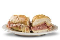Mortadella sandwich, Italian sausage Stock Image
