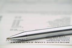 Mortage Anweisung - späte Zahlung? Stockbild