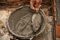 Mortaio del cemento fotografie stock